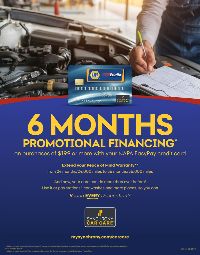 6 Months Promotional Financing